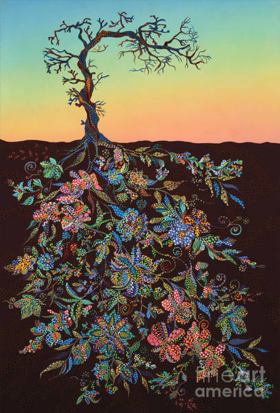 Rebirth Wall Art - Painting - Sunset by Erika Pochybova