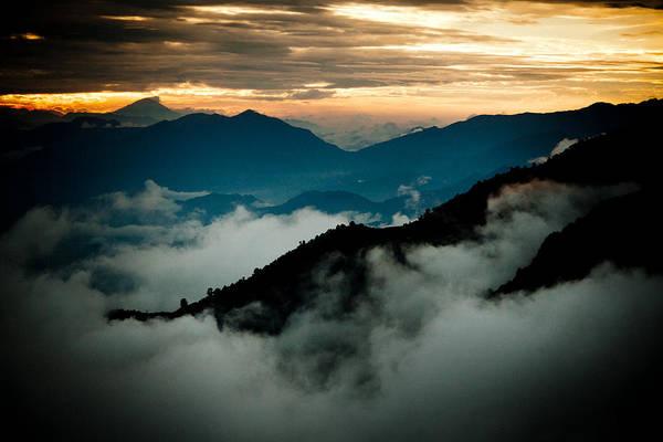 Wall Art - Photograph - Sunset Himalayas Mountain Nepal Panaramic View by Raimond Klavins