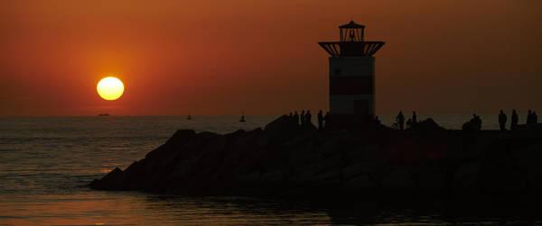 Scheveningen Pier Photograph - Sunset Over Sea And Pier by Petr Bonek