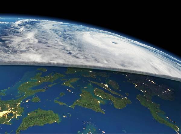 Suomi Photograph - Super Typhoon Haiyan by Planetary Visions/nasa-jpl/noaa