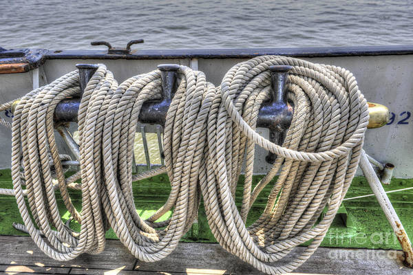 Photograph - Tall Ship Line Holder by Dale Powell