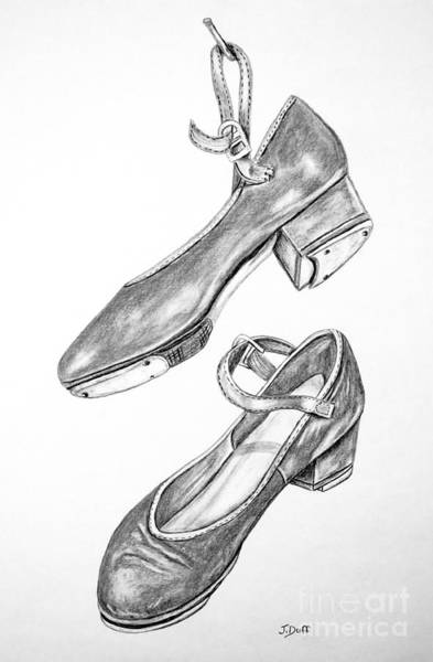 Wall Art - Drawing - Tap Shoes by Josie Duff