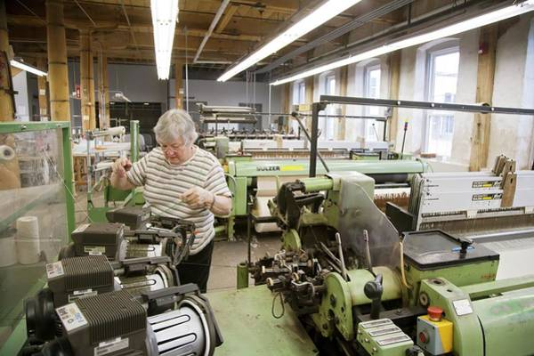 Textile Mill Photograph - Textile Mill Loom Operator by Jim West