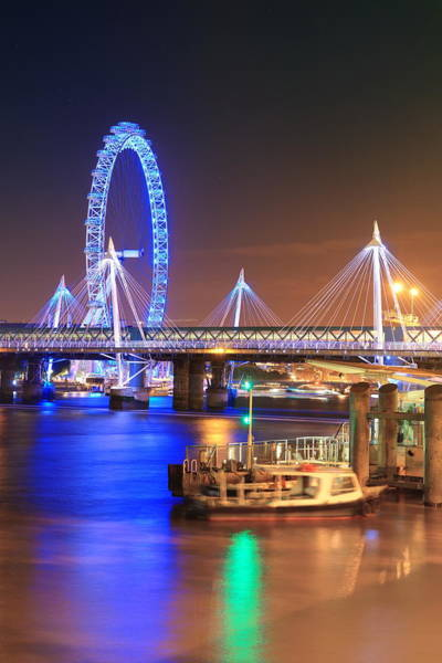 Photograph - Thames River Night View by Songquan Deng