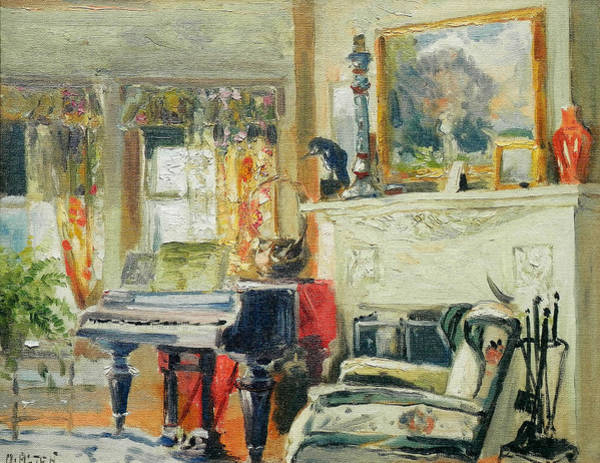 Grand Rapids Painting - The Artist's Living Room by Mathias Alten