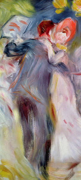Bonnet Painting - The Dance In The Country by Pierre Auguste Renoir