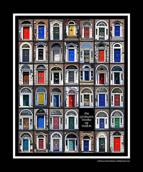 Photograph - The Georgian Doors Of Dublin by Joe Paul