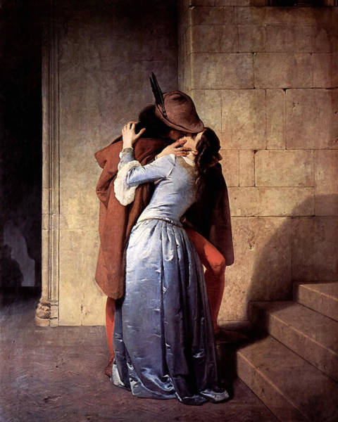 Cloak Digital Art - The Kiss by Francesco Hayez