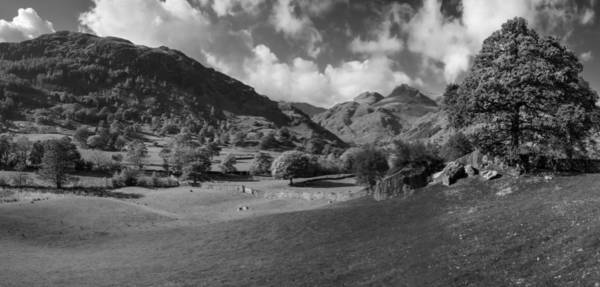 Wall Art - Photograph - The Langdale Pikes From Copt Howe by Graham Moore