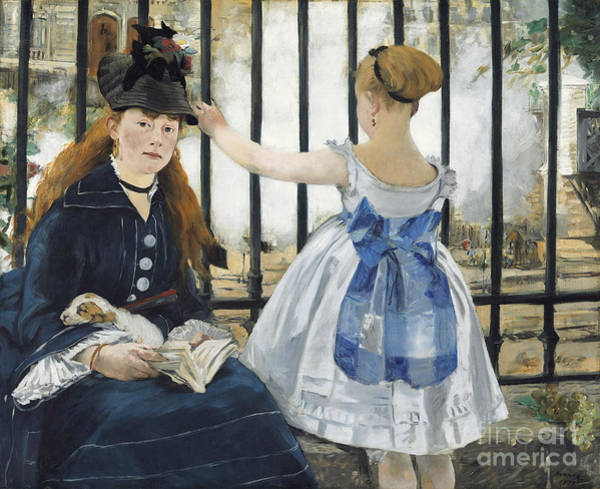 Lazare Painting - The Railway by Edouard Manet