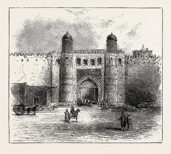 Wall Art - Drawing - The Russian Expedition To Khiva, Views In The City by Uzbekistani School