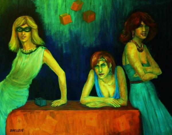 Menschenbild Painting - The Secret by Dagmar Helbig