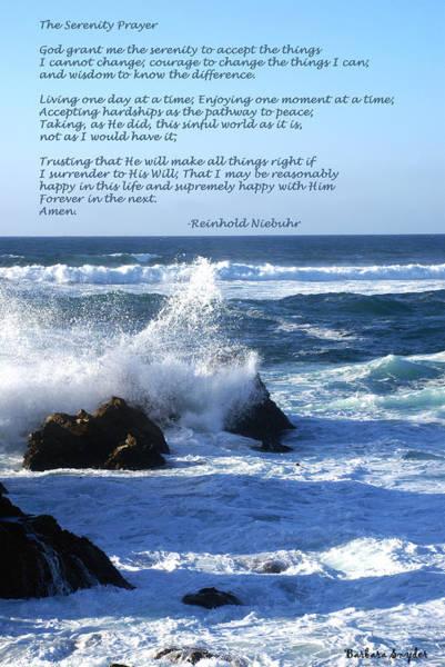 Serenity Prayer Digital Art - The Serenity Prayer by Barbara Snyder
