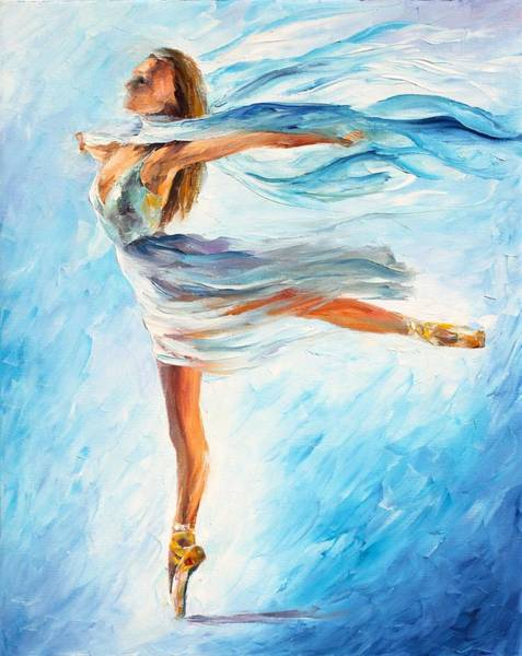 Wall Art - Painting - The Sky Dance by Leonid Afremov