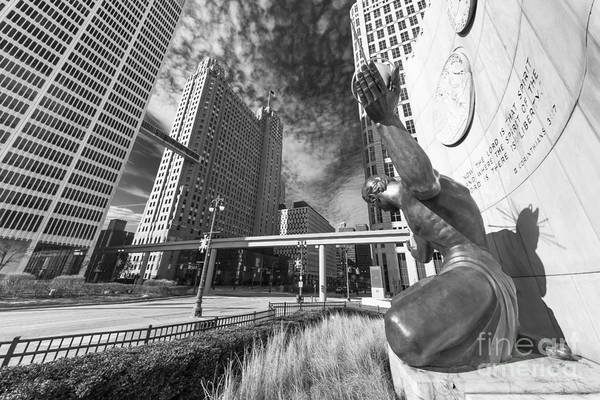 Woodward Photograph - The Spirit Of Detroit by Twenty Two North Photography