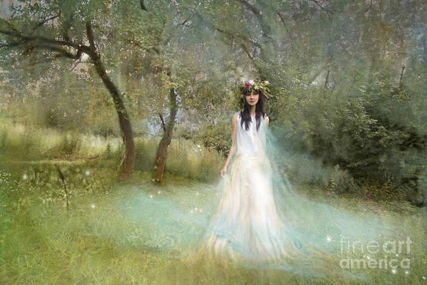 Orchard Digital Art - The Summer Fairy by Angel Ciesniarska