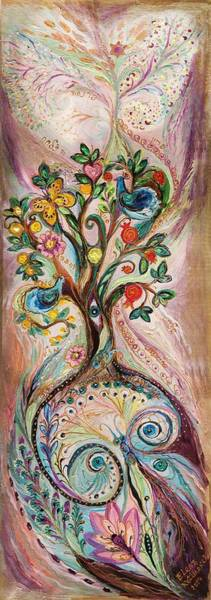 Wall Art - Painting - The Tree Of Life by Elena Kotliarker