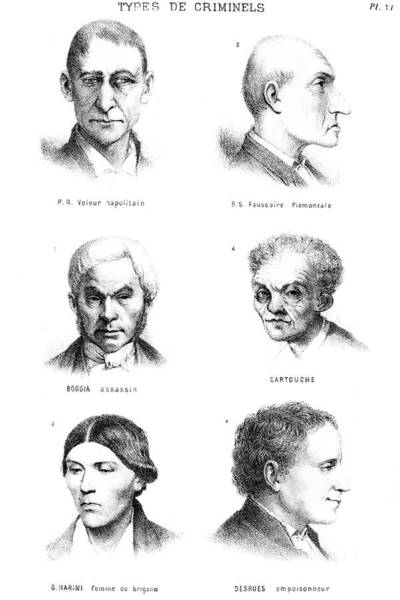 Wall Art - Photograph - Theory Of Criminal Types by Science Photo Library