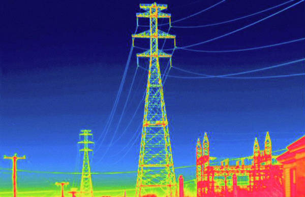 Voltage Photograph - Thermogram by Science Stock Photography