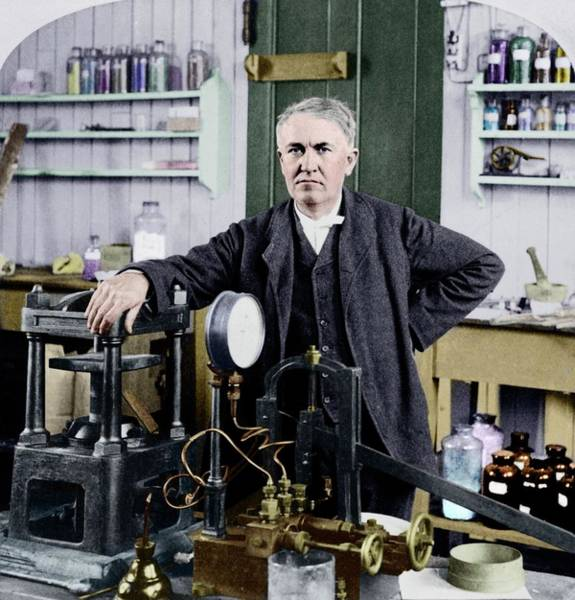 Wall Art - Photograph - Thomas Edison by Library Of Congress