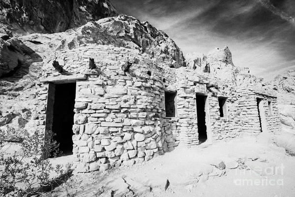 Civilian Conservation Corps Wall Art - Photograph - Three Historic Stone Cabins Built By The Civilian Conservation Corps In The 1930s Valley Of Fire Sta by Joe Fox