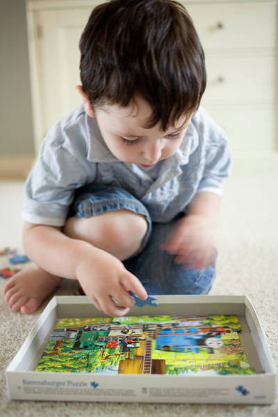 Wall Art - Photograph - Toddler Playing by Samuel Ashfield/science Photo Library
