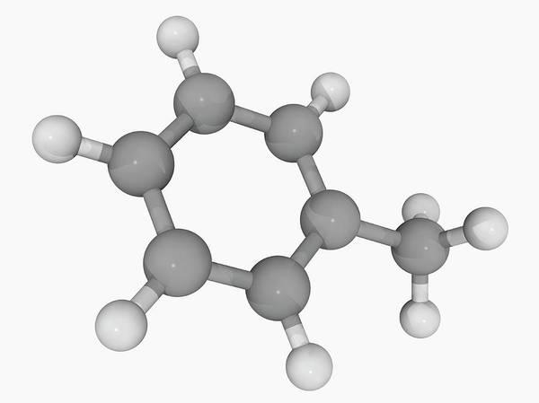 Wall Art - Photograph - Toluene Molecule by Laguna Design/science Photo Library