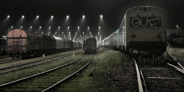 Parking Photograph - Trainsets by Leif L?ndal