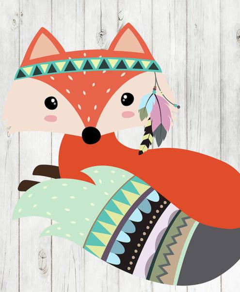 Wall Art - Painting - Tribal Fox by Tamara Robinson