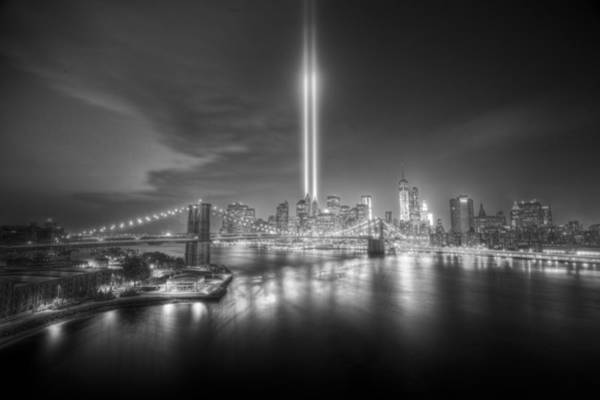Lower Manhattan Photograph - Tribute In Light by Tim Drivas