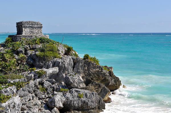 Photograph - Tulum Mexico Coastal Mayan Ruin by Brandon Bourdages