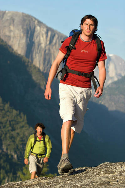 All Together Photograph - Two Young Men Backpacking In Yosemite by Justin Bailie