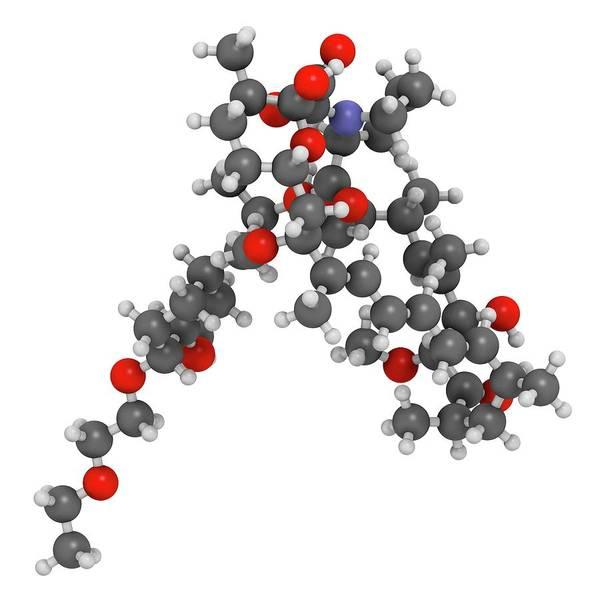 Wall Art - Photograph - Umirolimus Immunosuppressant Molecule by Molekuul