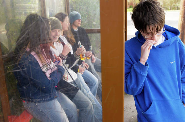 Shelter Photograph - Underage Drinking by Jim Varney/science Photo Library