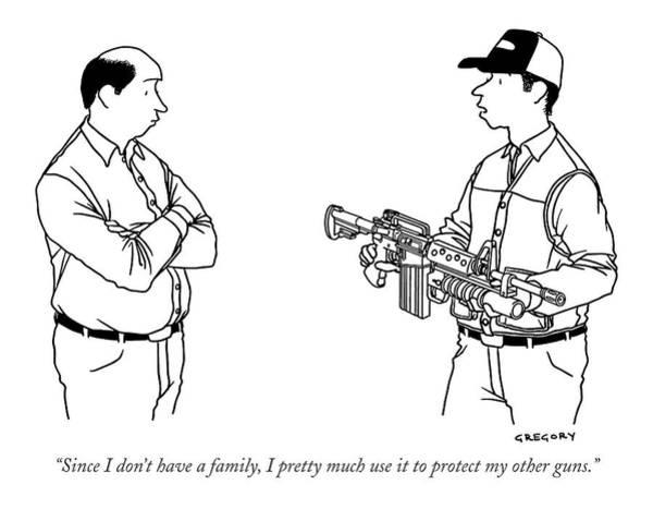 Assault Rifle Wall Art - Drawing - Since I Don't Have A Family by Alex Gregory