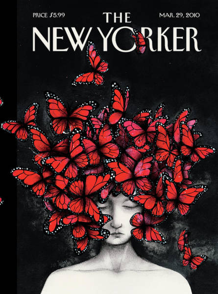 Butterfly Wall Art - Painting - New Yorker March 29th, 2010 by Ana Juan