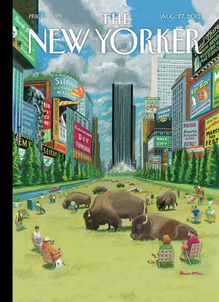News Painting - New Yorker August 27th, 2012 by Bruce McCall