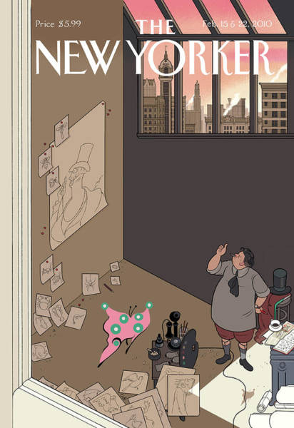 Painting - New Yorker February 15th, 2010 by Chris Ware