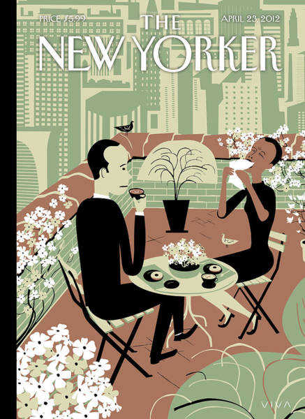 2012 Painting - New Yorker April 23rd, 2012 by Frank Viva