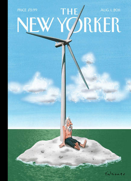 Wind Turbine Wall Art - Painting - New Yorker August 1st, 2011 by Ian Falconer