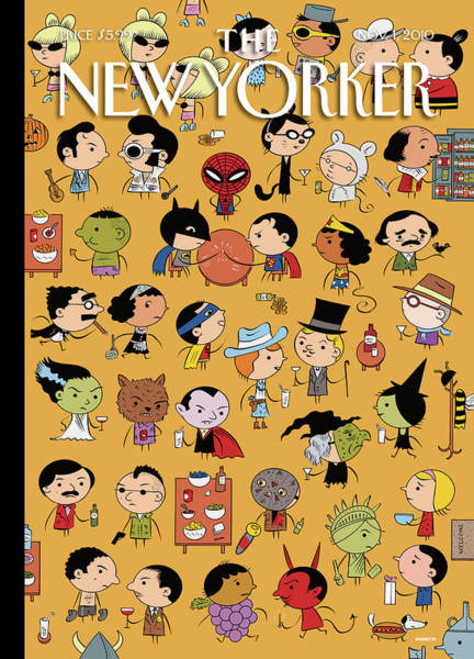 November 1st Painting - New Yorker November 1st 2010 by Ivan Brunetti