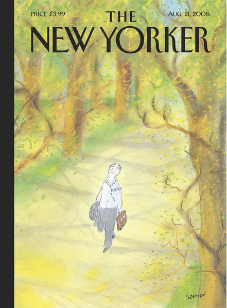 Summer Painting - New Yorker August 21st, 2006 by Jean-Jacques Sempe