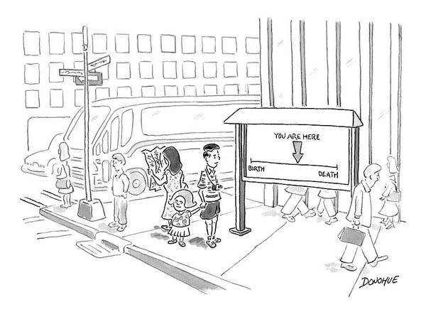 Somewhere Drawing - New Yorker July 10th, 2006 by John Donohue
