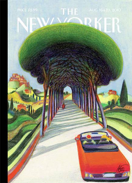 Wine Painting - New Yorker August 16th, 2010 by Lorenzo Mattotti