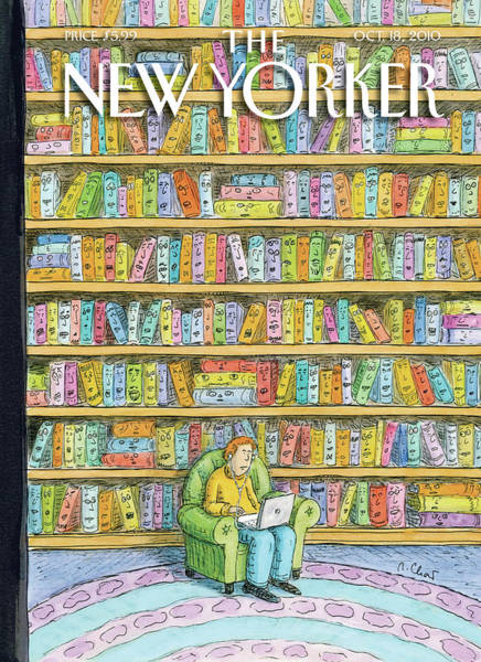 Book Painting - New Yorker October 18th, 2010 by Roz Chast