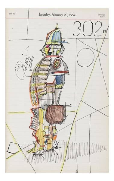 Male Drawing - New Yorker October 24th, 2005 by Saul Steinberg