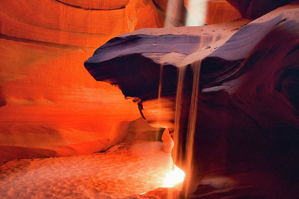 Texture Photograph - Upper Antelope Canyon by Powerofforever