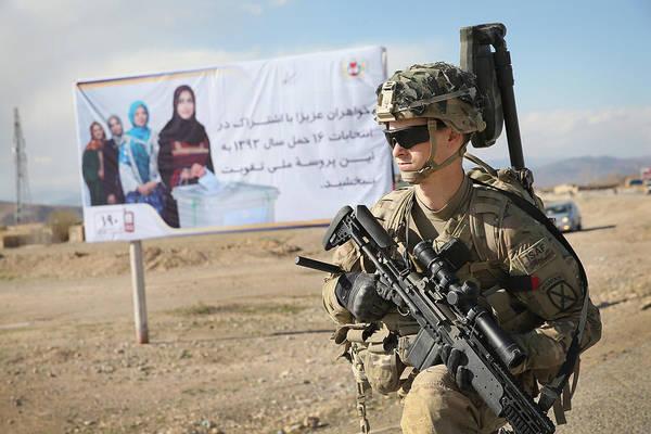 Us Troops Patrol Village In Afghanistan's Logar Province Art Print by Scott Olson