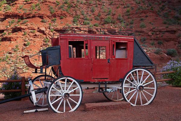 Stagecoach Photograph - Utah Arizona Border, Navajo Nation by David Wall