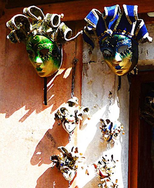 Gra Photograph - Venetian Masks  by Irina Sztukowski